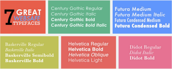 Websafe Typefaces