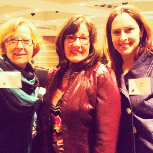 Wendy Blomseth, Susan Scofield and Jennifer Gilhoi after the event.